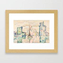 "Paul Signac ""Entrance to the Harbor of La Rochelle"" Framed Art Print"