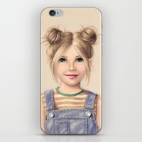 90s iPhone & iPod Skins featuring 90s Chick by kristen keller reeves