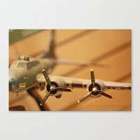 plane Canvas Prints featuring Plane by sannngat
