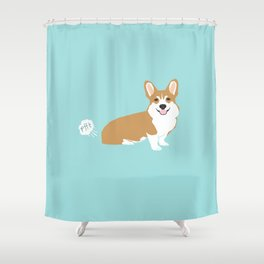 Corgi funny fart dog pure breed gifts dog lovers red corgis Shower Curtain