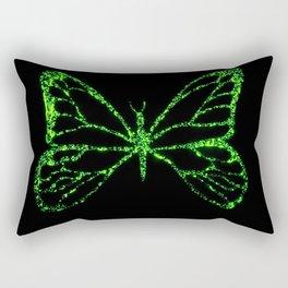 Butterfly Green Rectangular Pillow