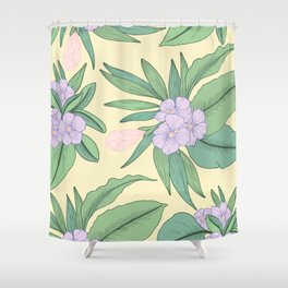 Jungle Daydream Purple Floral Print Shower Curtain