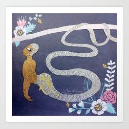 A Shimmering Naga Art Print