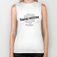 vampire weekend Biker Tanks featuring Vampire Weekend // Modern Vampires of the City by alquimie