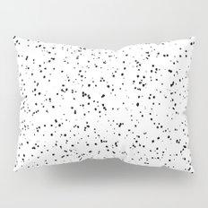 Speckles I: Black on White Pillow Sham
