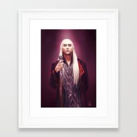 thranduil Framed Art Prints featuring Thranduil by tillieke