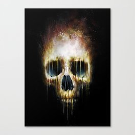 Skull Flame Canvas Print