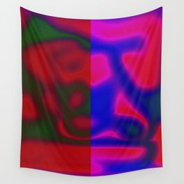 Red Color Leak Wall Tapestry