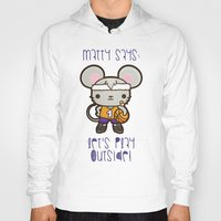 matty healy Hoodies featuring Matty the Sporty Mouse by Squid&Pig