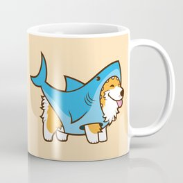 Corgi in a Shark Suit Coffee Mug