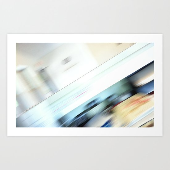 Life is a blight  in an office closed tight. Art Print