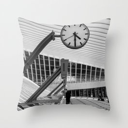 Train  Station Luik - Guillemins Belgium Throw Pillow