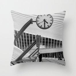 Train  Station Luik - Guillemins Belgium Throw Pillow