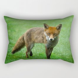 Wild Red Fox Rectangular Pillow