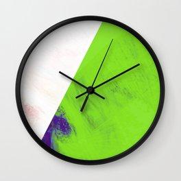 green triangle Wall Clock
