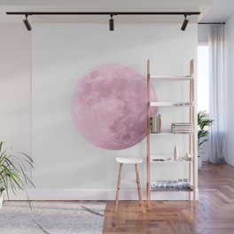 COTTON CANDY PINK MOON Wall Mural