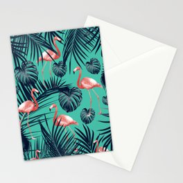 Tropical Flamingo Pattern #7 #tropical #decor #art #society6 Stationery Cards
