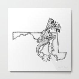 Maryland Mermaid Metal Print