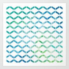 Marine Geometric Art Print