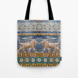 Lion Mosaic Tote Bag