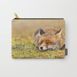 Comfortably Fox (red fox sleeping) Carry-All Pouch