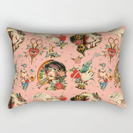 Makers Gonna Make Pattern Pink Rectangular Pillow