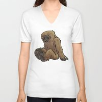 bigfoot V-neck T-shirts featuring Bigfoot by Savannah Horrocks
