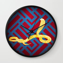 Art Deco Snake Wall Clock