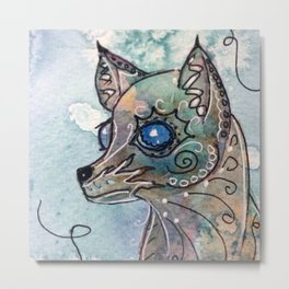Blue Eyed Dog Metal Print