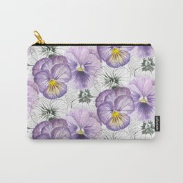 Pansy pattern Carry-All Pouch