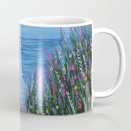 One Path, Ocean Seascape, Modern Impressionism, Beach Art Coffee Mug
