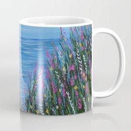 One Path, Ocean Seascape, Modern Impressionism, Beach Art Coffee Mug