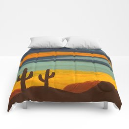 Saguaro Sunset Comforters