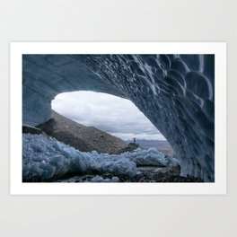 Racing glaciers. Art Print