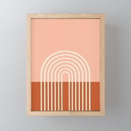 Terracota Pastel Framed Mini Art Print