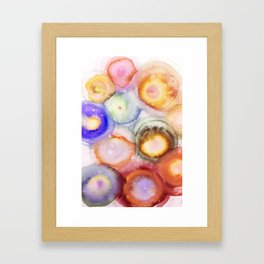 Abstract Watercolor Circles Art Framed Art Print