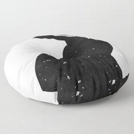 Black Cat Skull Floor Pillow