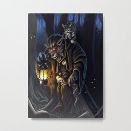 Through the night forest Metal Print