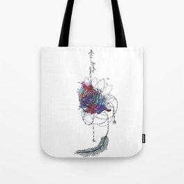 I Create Myself/ Bad Wolf Dream Catcher Tote Bag