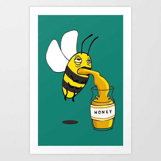 Save the honey bees! Art Print