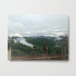 In the Mountains of Thailand Metal Print