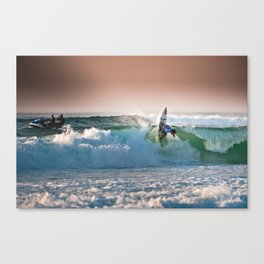 Aritz Aranburu, Surfing during world tour of surf Canvas Print