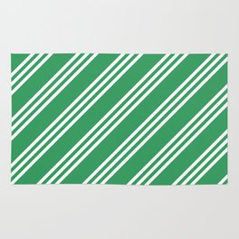 Kelly Green Large Small Small Stripes Rug