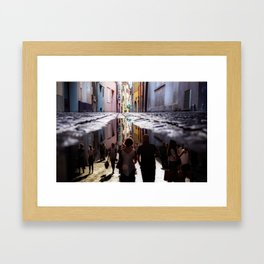 A Reflection of City Life by GEN Z Framed Art Print