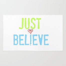 Just Believe Heart Rug