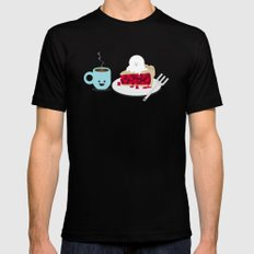 Coffee and Pie Mens Fitted Tee Black 2X-LARGE