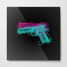 Gun Diagram Metal Print