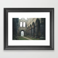 Gloomy Abbey Framed Art Print
