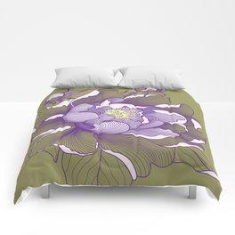 Peony flower Comforters