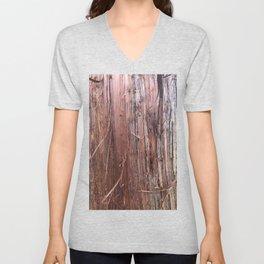 Silver Fir Tree Trunk Abies Alba Unisex V-Neck